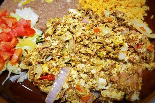 Machaca con Huevo